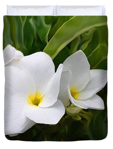 St. Cecelias' Floral Show Duvet Cover