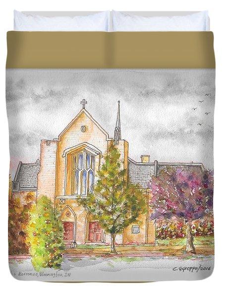 St. Charles Borromeo Catholic Church, Bloomington, Indiana Duvet Cover