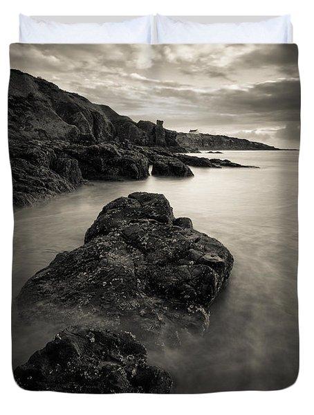 St Cyrus Beach Duvet Cover