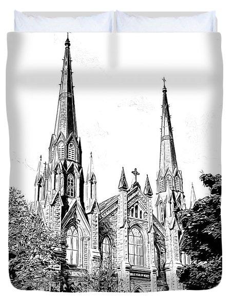 St Dunstans Basilica Duvet Cover