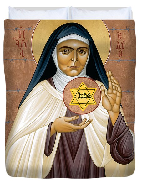 St. Edith Stein Of Auschwitz - Rleds Duvet Cover
