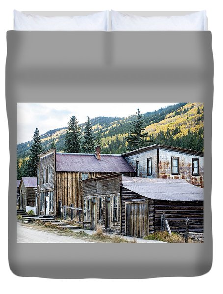 Duvet Cover featuring the photograph St. Elmo A Colorado Ghost Town by Nadja Rider