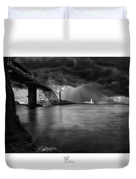 St. Elmo Breakwater Footbridge Duvet Cover