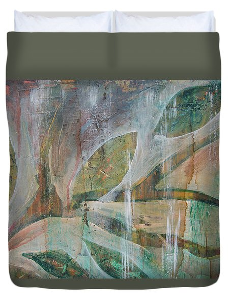Duvet Cover featuring the painting St Fancis 1 by Jocelyn Friis