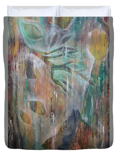 Duvet Cover featuring the painting St Francis 4 by Jocelyn Friis