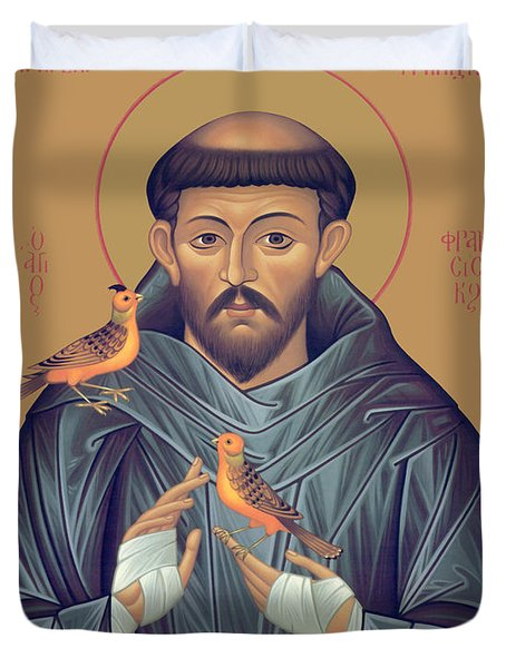 St. Francis Of Assisi - Rlfob Duvet Cover