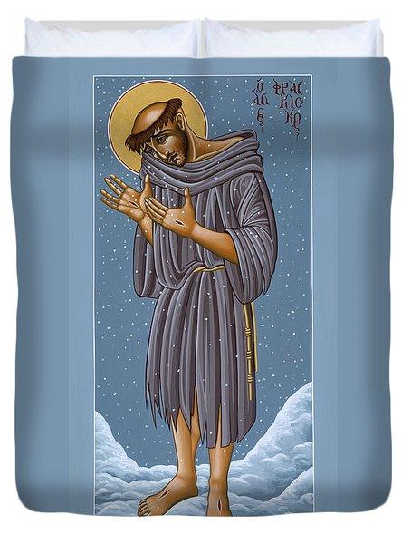 St Francis Wounded Winter Light 098 Duvet Cover
