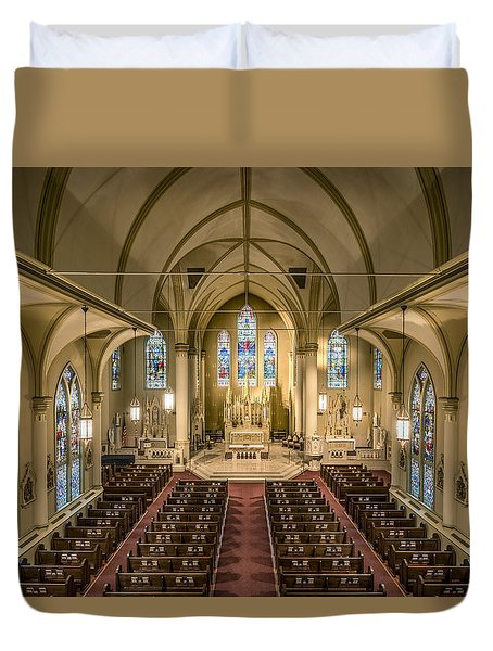 St. Francis Xavier Cathedral Duvet Cover