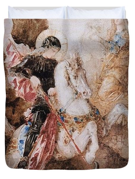 St George 1869 Gustave Moreau Duvet Cover