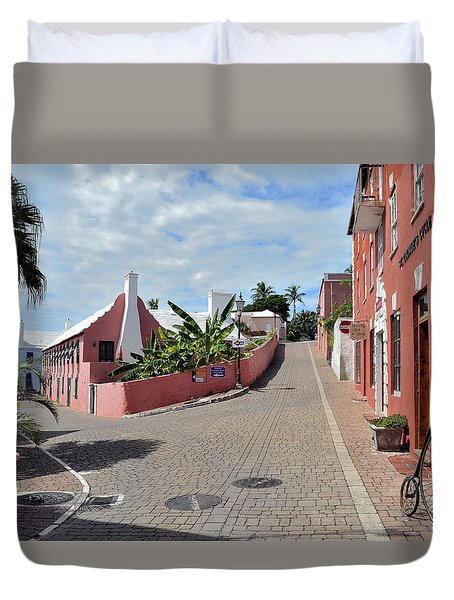 St George's Bermuda Duvet Cover by Richard Ortolano