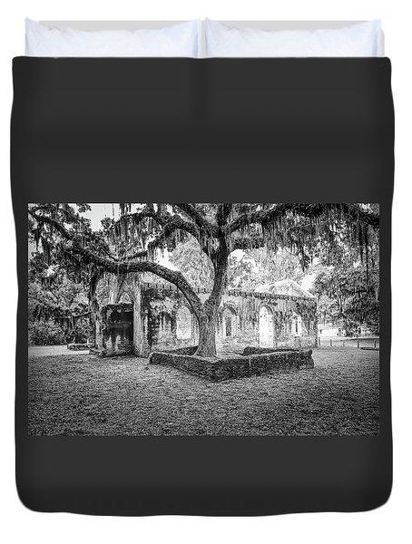 St. Helena Tabby Church Duvet Cover by Scott Hansen