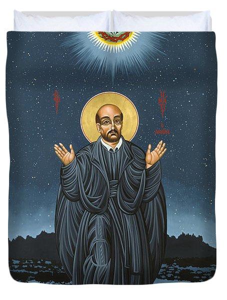 St. Ignatius In Prayer Beneath The Stars 137 Duvet Cover