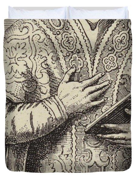 St Ignatius Loyola, Founder Of The Society Of Jesus Duvet Cover