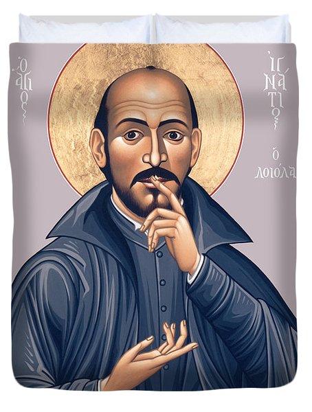 St. Ignatius Loyola - Rligl Duvet Cover