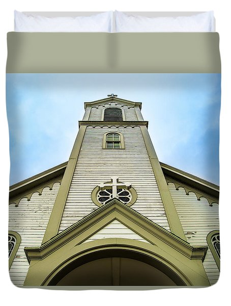 Duvet Cover featuring the photograph St. Ignatius Of Loyola Church And Cemetary by Onyonet  Photo Studios
