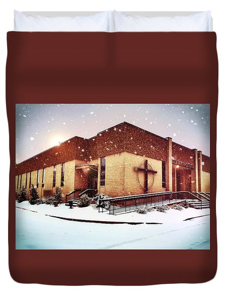 St. Isaac Jogues In The Snow Duvet Cover