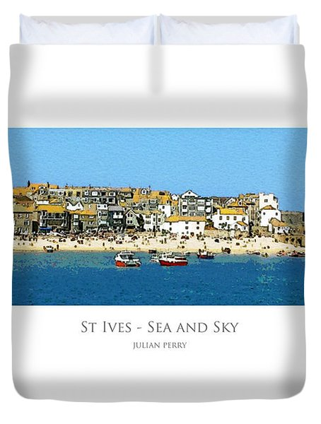 St Ives Sea And Sky Duvet Cover