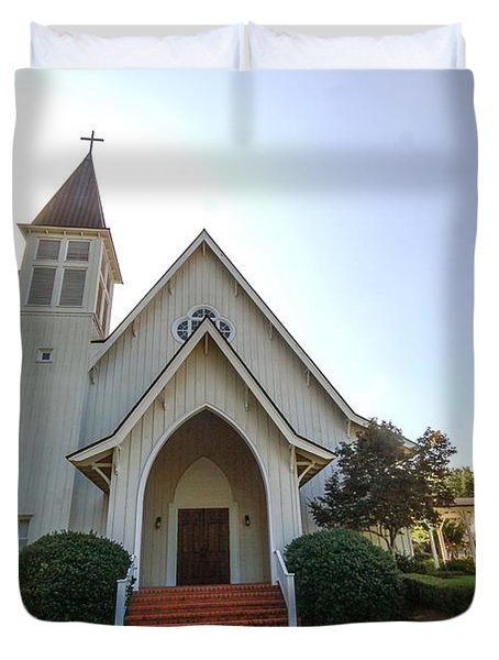 Duvet Cover featuring the photograph St. James V3 Fairhope Al by Michael Thomas