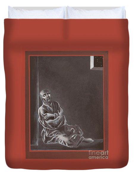Duvet Cover featuring the painting  St John Of The Cross In The Dark Night Of The Soul 290 by William Hart McNichols