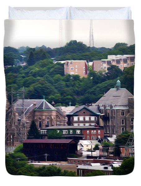 St John The Baptist Church Manayunk Philadelphia Duvet Cover by Bill Cannon