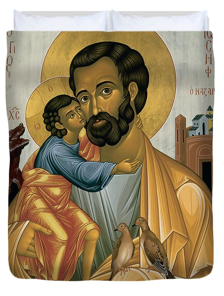 St. Joseph Of Nazareth - Rljnz Duvet Cover