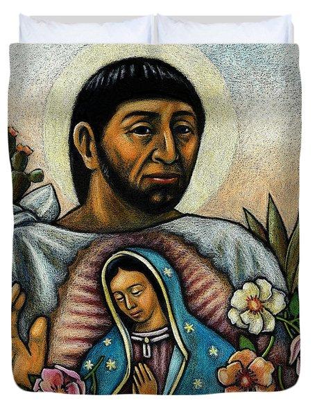 St. Juan Diego And The Virgins Image - Jljdv Duvet Cover