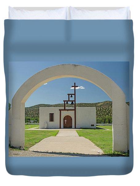 St Jude Catholic Church - San Patricio, Nm Duvet Cover