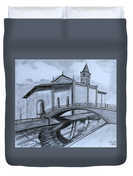 St. Jules Cathedral  Duvet Cover