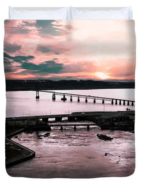 St. Lawrence Sunset Duvet Cover
