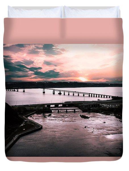 St. Lawrence Sunset Duvet Cover