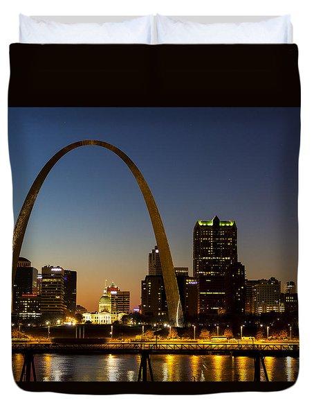 St. Louis Arch Duvet Cover