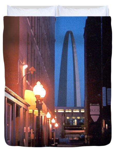 Duvet Cover featuring the photograph St. Louis Arch by Steve Karol