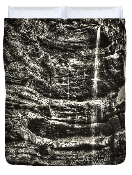 St Louis Canyon At Starved Rock State Park Duvet Cover