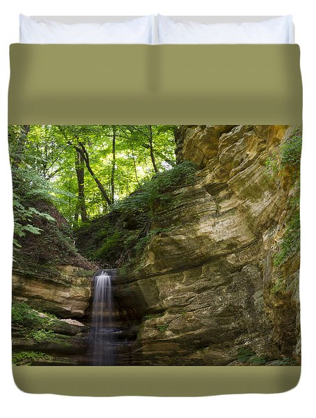 St. Louis Canyon Duvet Cover by Larry Bohlin