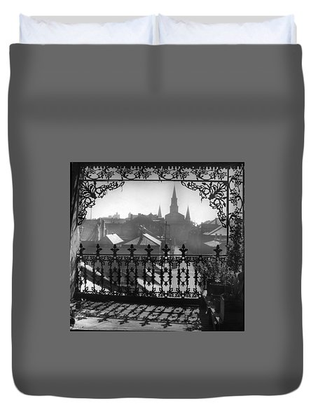 St Louis Cathedral In Frame Duvet Cover