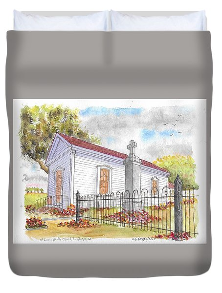 St. Louis Catholic Church, La Grange, California Duvet Cover