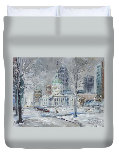 St. Louis Downtown Old Courthouse Duvet Cover