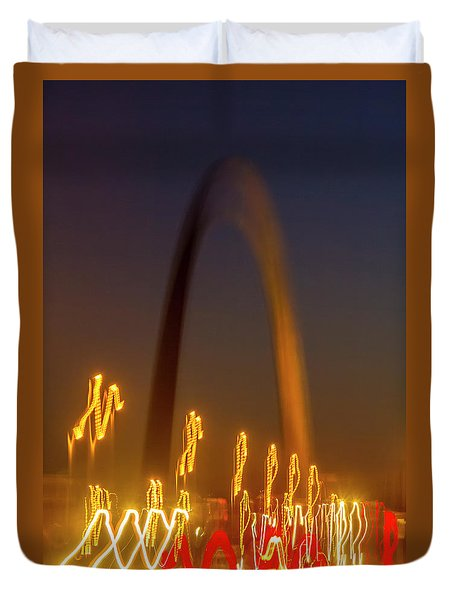 St Louis Heartbeat Duvet Cover