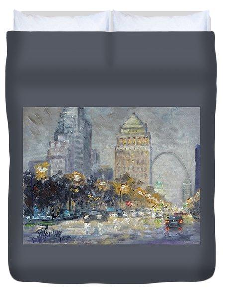 St. Louis Market Street Duvet Cover