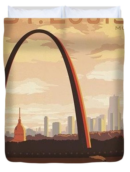St. Louis Mo. Gateway To The West Duvet Cover