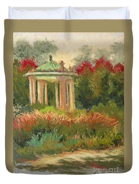 St. Louis Muny Bandstand Duvet Cover