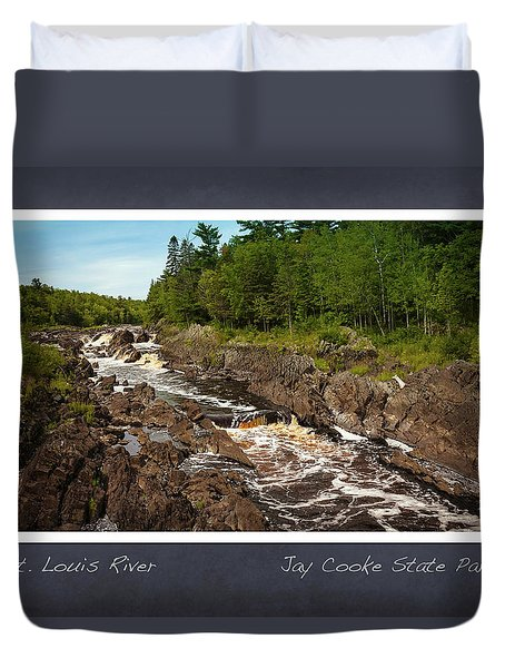 Duvet Cover featuring the photograph St Louis River Poster 2 by Heidi Hermes