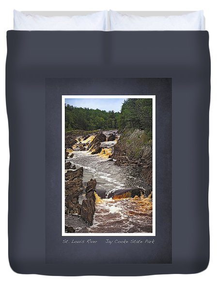 St Louis River Scrapbook Page 3 Duvet Cover