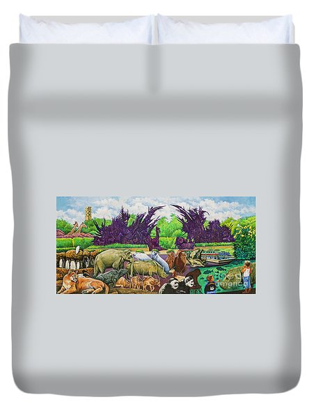 St. Louis Zoo Duvet Cover