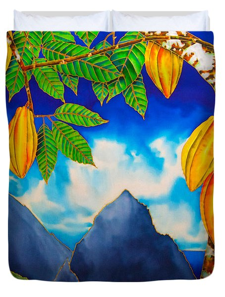 St. Lucia Cocoa Duvet Cover