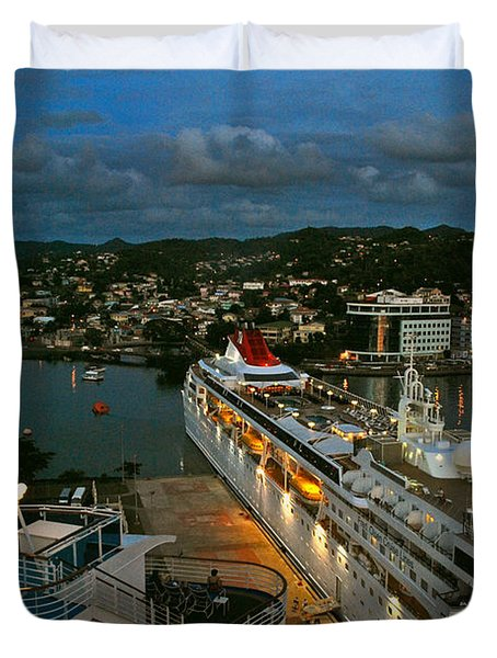 St. Lucia In The Evening Duvet Cover