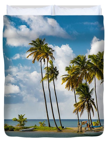 St Lucia - Marigot Bay IIi Duvet Cover