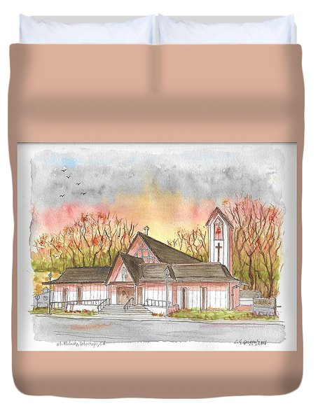 St. Malachy Church, Tehachapi, California Duvet Cover