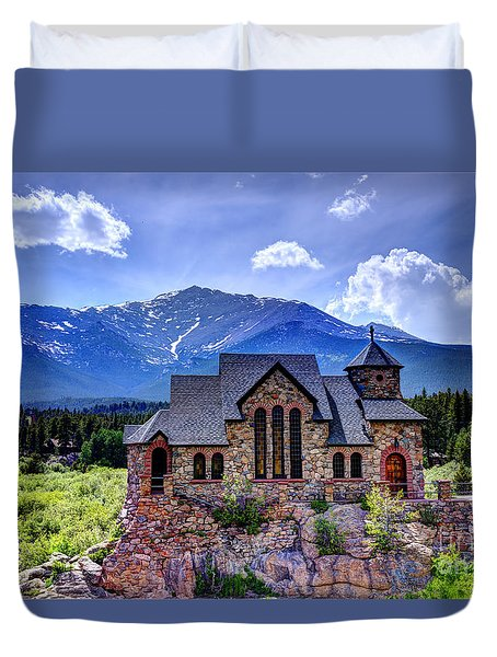 St. Malo - Chapel On The Rock Duvet Cover