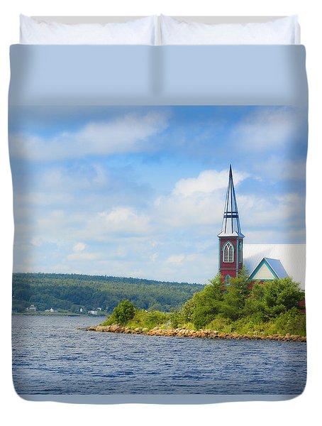 St Marks In Middle Lahave Nova Scotia Duvet Cover by Ken Morris